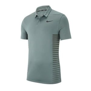Nike Mens Zonal Cooling Stripe Golf Polo Shirt Gre